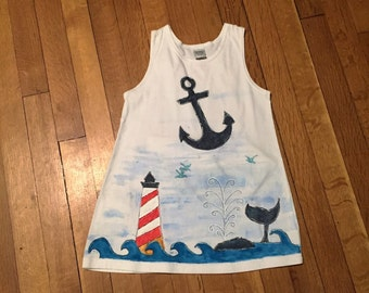 Size 4 hand painted girls dress