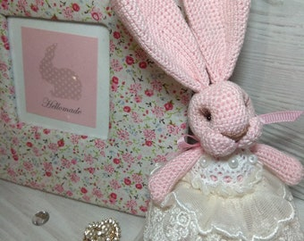 """Hare knitted """"Rose"""" Rabbit Knitted """"Rosie"""""""