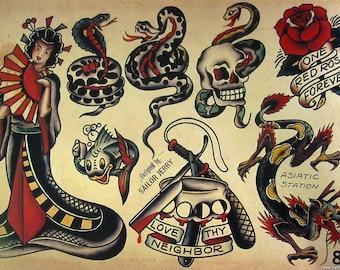 Sailor Jerry Temporary Tattoo Set