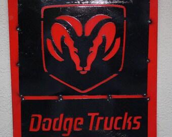 Metal DODGE TRUCKS Ram Sign Gas Oil Garage Man Cave Home Decor Truck CHRYSLER