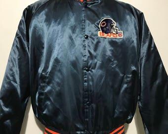 Vintage Chicago Bears Chalk Line Bomber Jacket XL
