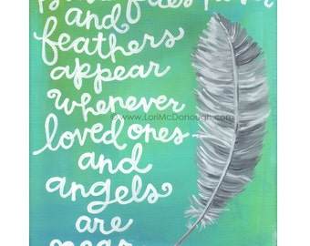 Feathers and angels