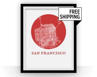 San Francisco Map Print - City Map Poster