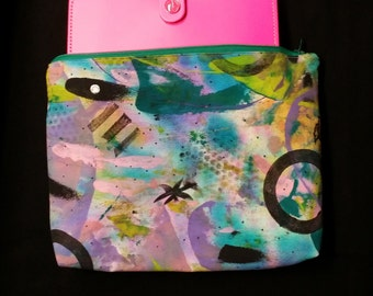 Planner Case - Artsy Hand Painted Planner Bag