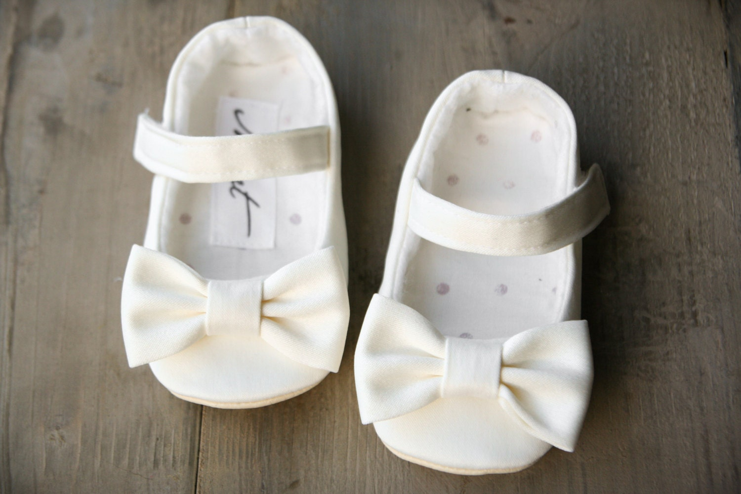 Ivory baby dress shoes newest and cutest baby clothing collection white flower girl shoes white christening shoes bow shoes mightylinksfo