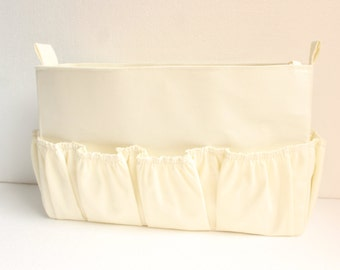 Diaper Purse insert fits Louis Vuitton Delightful GM- Diaper Bag organizer in Cream