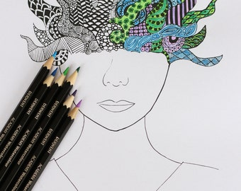 A Colourful Mind Colouring Sheet