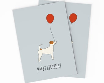 Jack birthday card etsy printable jack russel terrier birthday card digital birthday card for your friend happy bookmarktalkfo Image collections