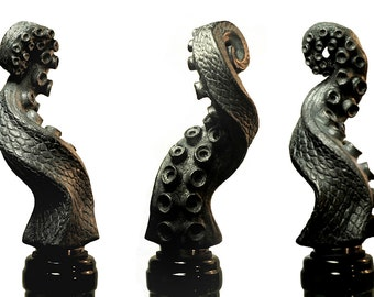 Tentacle Winestopper, pewter finish