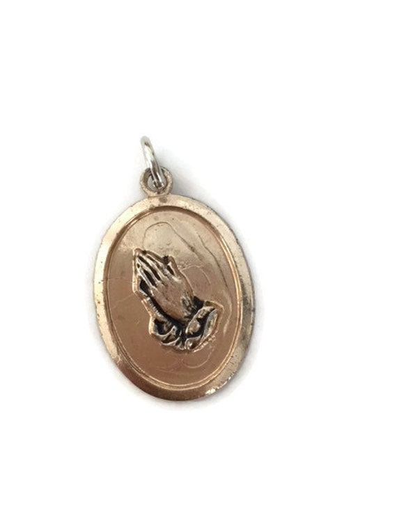 Praying hands pendant gold prayer hands pendant w germany mozeypictures Gallery