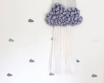 Cloud Weaving Workshop, cloud wall hanging, Weaving Workshop, cloud