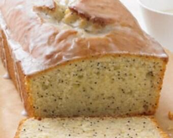 Poppy seed bread with lemon glaze