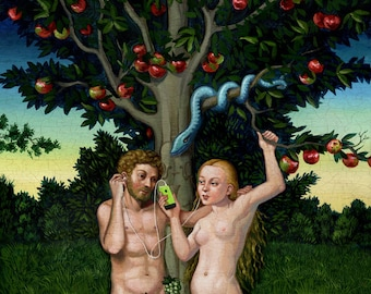Adam and Eve and iPod - Limited Edition Print