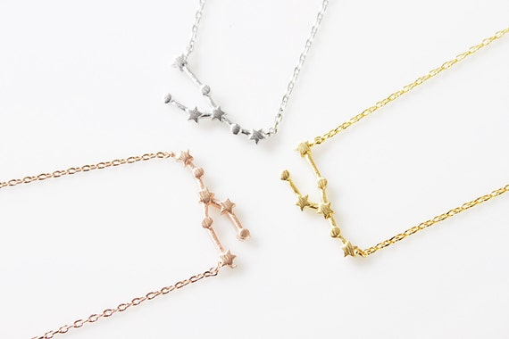 from by products necklace dainty luna taurus constellation aries love grande