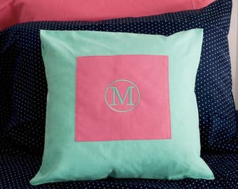 Personalized throw pillow ~ Dorm room Monogrammed pillow ~ porch monogrammed pillow