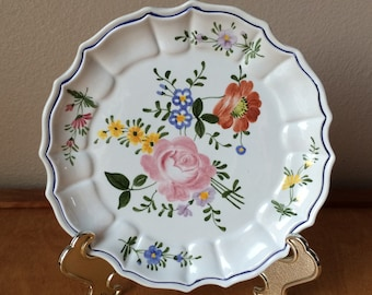 Hand Painted Plate from Italy - Floral Design