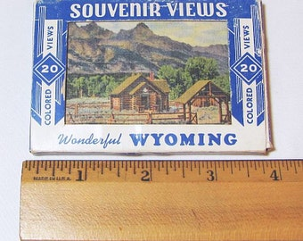 Wyoming Postcards - Small Collectible Postcard Set - Curt Teich Set of 20 Postcards
