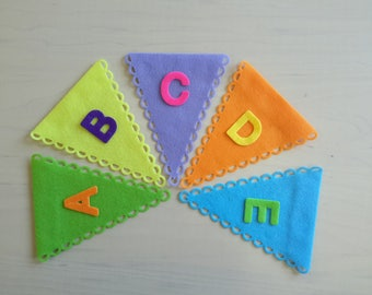 Make your own Bunting, Felt Bunting Flags, Die Cut, Over 20 colours