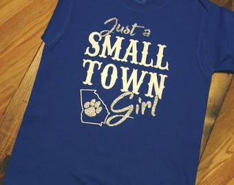 Just a Small Town Girl - Banks County Leopards --- Just a Small Town Girl Tshirt --- School Spirit --- Cute Girl Gift