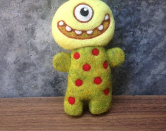 Needlefelted Happy and Sad Hug Monster Ready to Ship