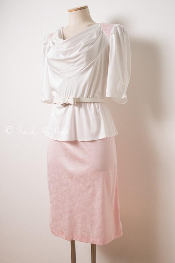 Jahrgang rosa Kleid Vintage Kleid 80er Kleid Vintage rosa