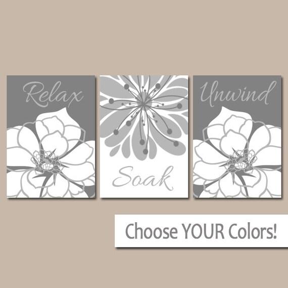 Gray bathroom wall art canvas or prints bath decor bathroom for Bathroom decor printables