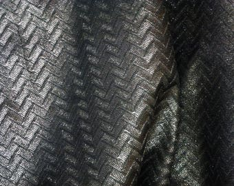 "Leather 8""x10"" PEWTER Shimmer ZIG ZAG Embossed Cowhide 2.5-2.75 oz/ 1-1.1 mm PeggySueAlso™ E1120-01 Limited *"