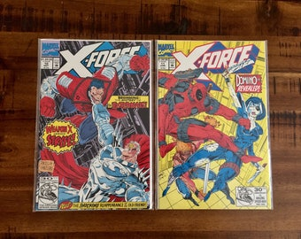 1992 X-Force #10 and #11 Comic Books / 1st Appearance The Externals! And 1st Full Domino!/ NM-VF/ Choose One or Both for a Discounted Price!