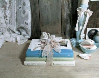 Beach Cottage Book Bundle / Shabby Chic Beach Cottage / UpstairsAtAliceAnns