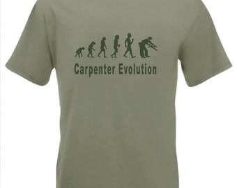 Evolution To Carpenter t-shirt Funny Carpentry T-shirt sizes Sm TO 2XXL