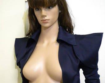 elegant ladies jacket bodice with short puffed sleeves