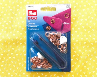 PRYM 10 Jersey copper buttons