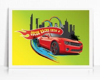 Hot Wheels Inspired Backdrop - Printable