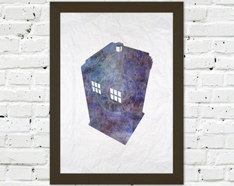 0035 Dr Who Tardis A3 Wall Art Print Multiple Sizes
