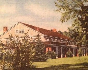 ON SALE 1940's Rocky Mount North Carolina NC Benvenue Country Club Old Vintage Linen Postcard
