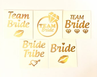 17 Mixed Bachelorette party favors,bachelorette tattoo,bride tribe tattoo,flash tattoo,gold tattoo,bridesmaid tattoo, bridal party favor