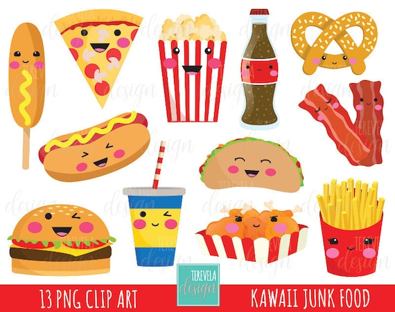 50 sale junk food clipart fast food clipart kawaii clipart rh etsystudio com fast food clipart png fast food clipart pictures