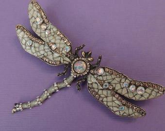 JOAN RIVERS Dragonfly Brooch, Joan Rivers Dragonfly Pin, Joan Rivers Dragonfly Insect, Joan Rivers Jewelry, Dragonflies, Dragonfly Jewelry