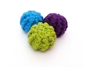 Small Squeaker Balls Tiny Dog Toys - Set of 3 - Choose Your Colors