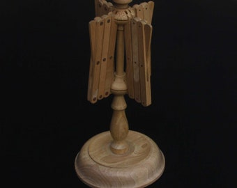 Vintage free standing umbrella style wooden yarn swifter   Sourced in Italy