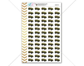 Military Jeep stickers for planner, calendar! Functional planner stickers military sticker functional sticker army sticker #SQ00632