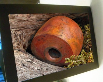 No longer Afloat Greeting Card cork fishing Alaska driftwood