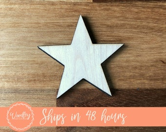 Unfinished Wood Star | Wood Craft | Star Shaped Craft