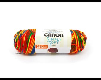 Caron Simply Soft Paints Yarn, Crayon Variegated, 5 oz
