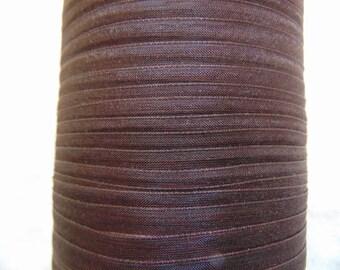 Dark brown organza Ribbon, width 06 mm (O-074)