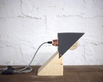 Black forging ANUK lamp. Anuk lamp black Forge, wood and metal, wood, design, industrial, handmade, Led vintage bulb, Lamp, Woodlamp, Designlamp.