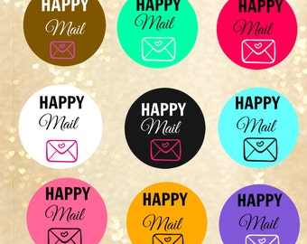 Happy Mail stickers, Happy mail labels, Happy mail, stickers to buy , happy post mail,custom labels, custom stickers, shipping labels