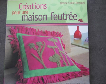 """Book """"Designs for a cozy home"""" - 22 designs, embroidery, felted wool, stitched, machine"""