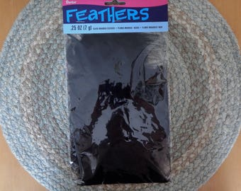 Black Marabou Feathers, White Feathers, White Plumbs, Hat Crafts, Headband Crafts, Hair Clip Supplies, Millinery Supplies, Craft Supplies,