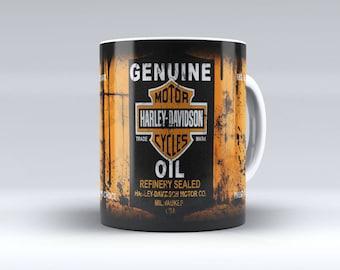 Oil Can Mug, Mechanic Mug, Harley Coffee Mug, Retro Oil Can, Mechanic Gift, Harley Oil Can Coffee Mug